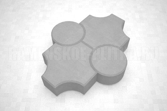 плитка клевер рельефный цвет серый