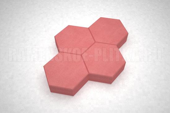 плитка соты цвет красный
