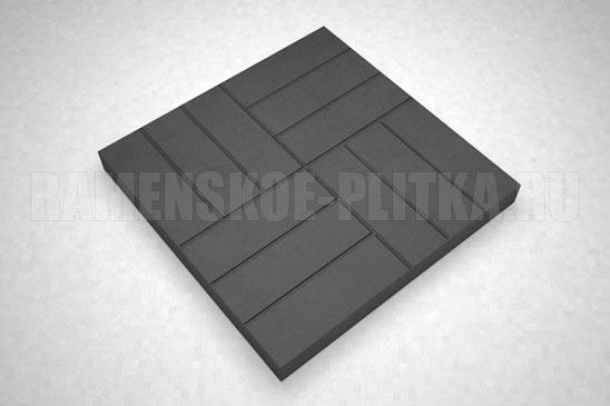 плитка 12-кирпичей цвет черный
