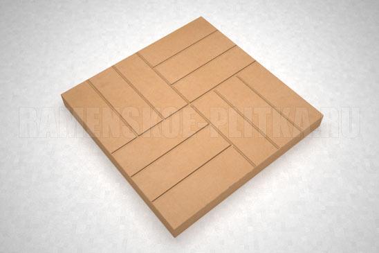 плитка 12-кирпичей цвет оранжевый