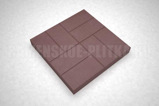 плитка 8-кирпичей цвет коричневый