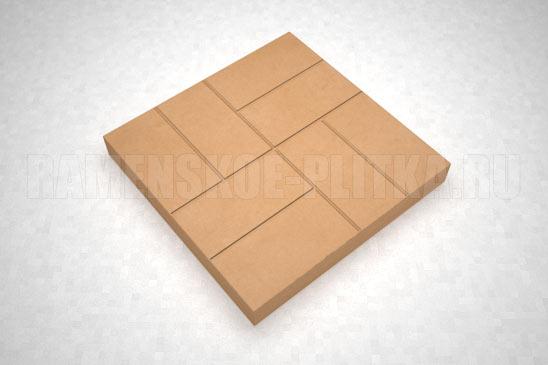 плитка 8-кирпичей цвет оранжевый