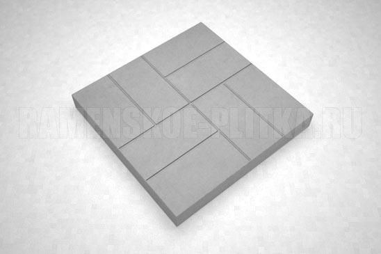 плитка 8-кирпичей цвет серый