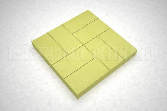 плитка 8-кирпичей цвет желтый
