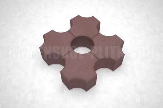 плитка эко цвет коричневый