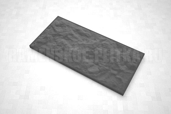 плитка рваный камень 270*127 цвет черный