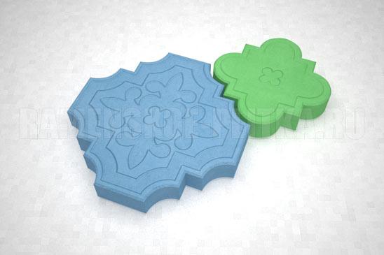 плитка гжелка цвета синий и зеленый