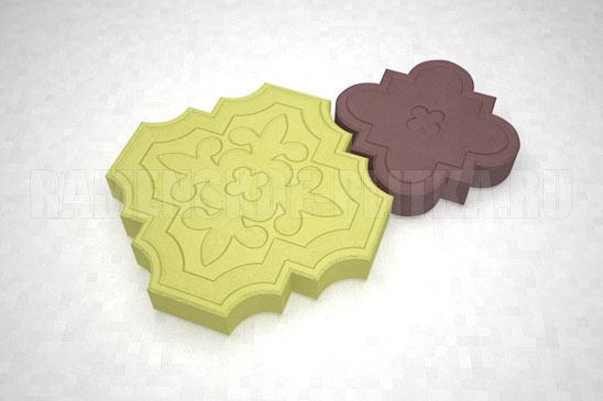 плитка гжелка цвета желтый и коричневый
