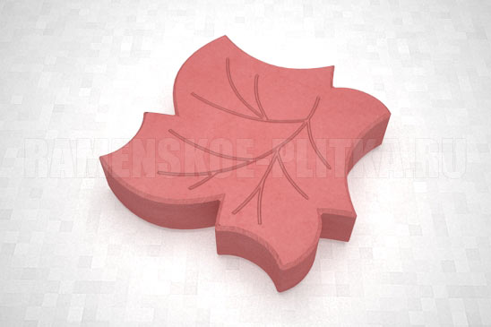 плитка клен цвет красный