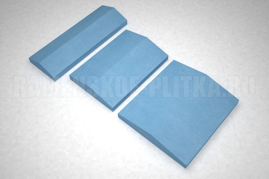 крышка на забор цвет синий