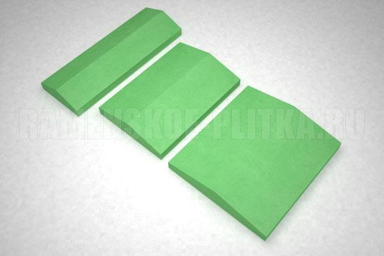 крышка на забор цвет зеленый