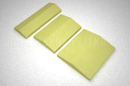 крышка на забор цвет желтый