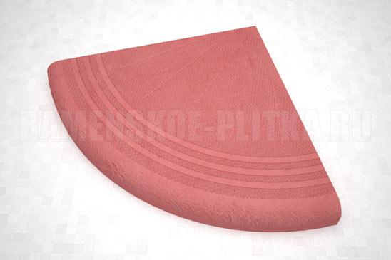 ступень угловая цвет красный
