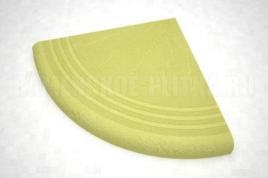 ступень угловая цвет желтый