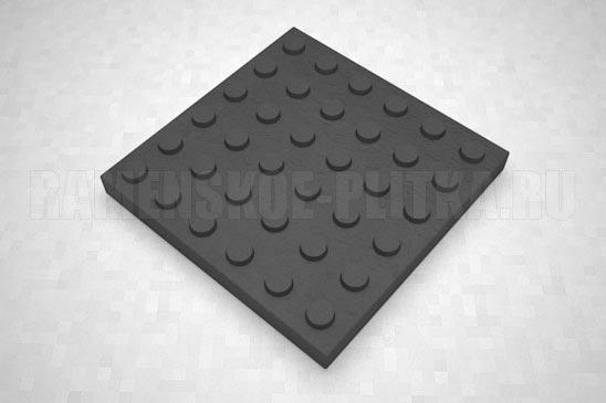 тактильная плитка с конусообразными рифами черная
