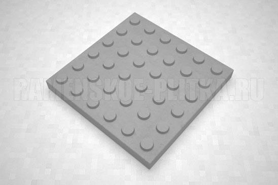 тактильная плитка с конусообразными рифами серая