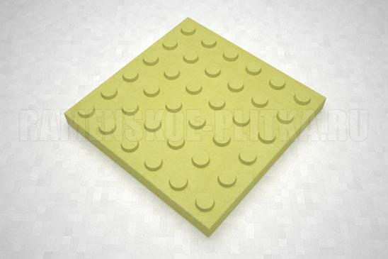 тактильная плитка с конусообразными рифами желтая