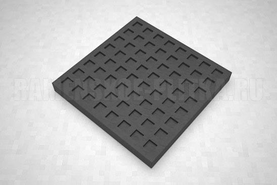 тактильная плитка с квадратными рифами черная