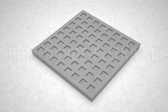 тактильная плитка с квадратными рифами серая