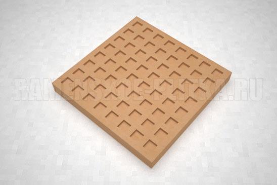 тактильная плитка с квадратными рифами оранжевая