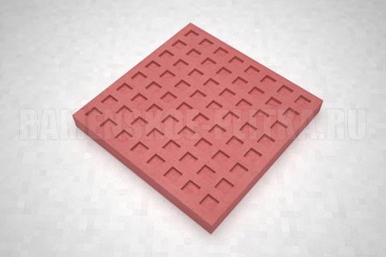 тактильная плитка с квадратными рифами красная