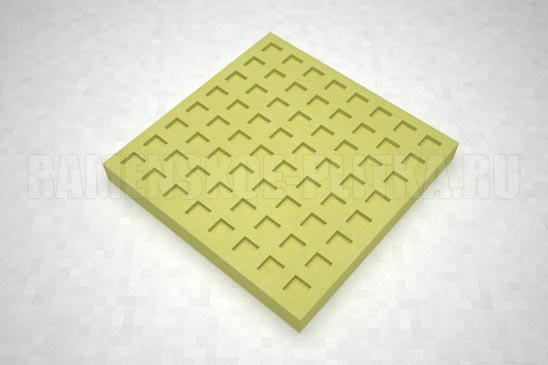 тактильная плитка с квадратными рифами желтая