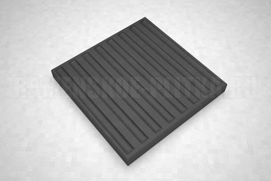 тактильная плитка с продольными рифами черная