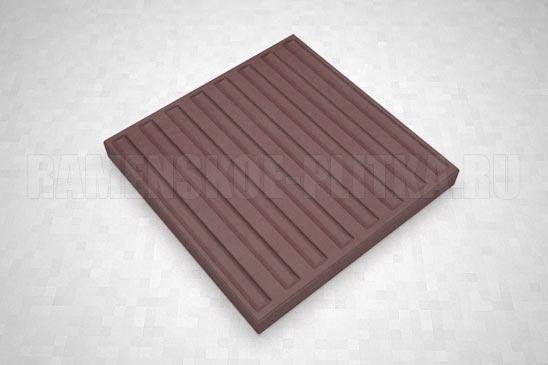 тактильная плитка с продольными рифами коричневая