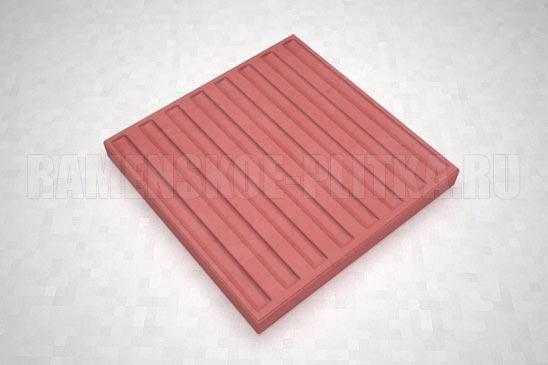 тактильная плитка с продольными рифами красная