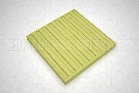 тактильная плитка с продольными рифами желтая